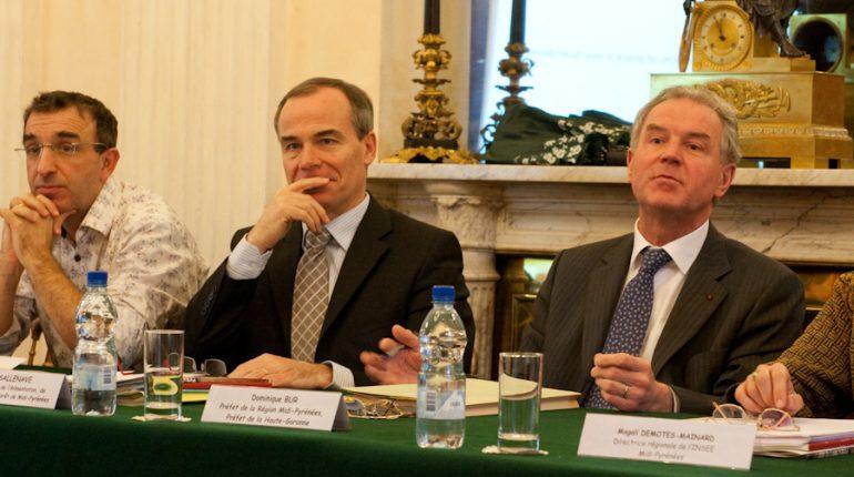 Michel Sallenave (DRAAF) et Dominique Bur (Préfet de région) présentaient la nouvelle ambition du gouvernement pour les territoires ruraux.