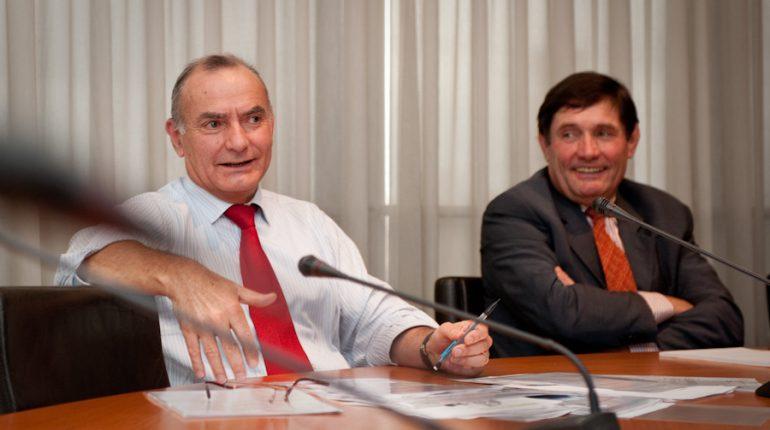 Yvon Malard et Gérard Cazals.