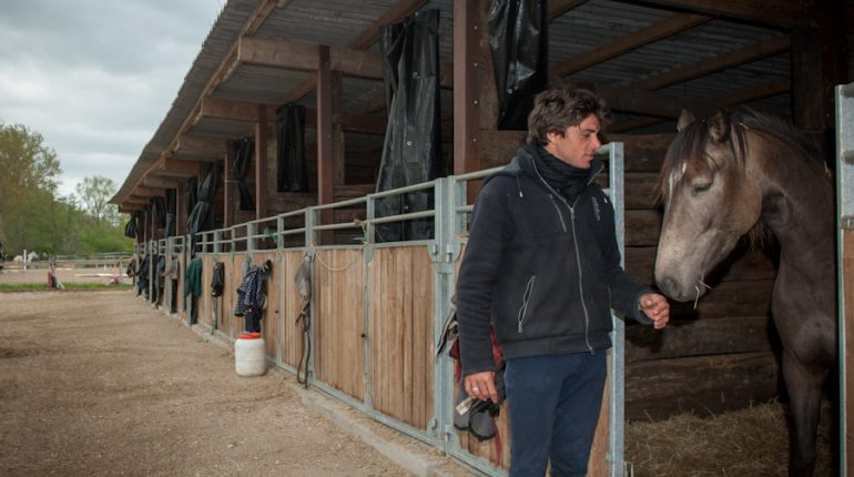 Ludovic Darrigan s'est lancé dans l'élevage de poneys.