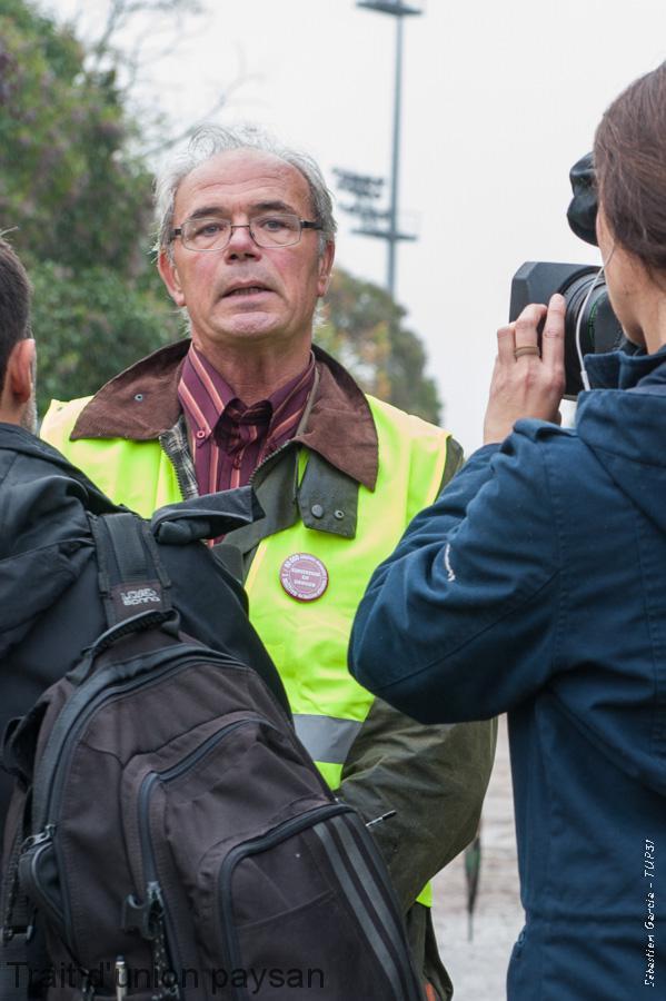 Jacques Arthuys, lors de la manifestation du 12 novembre.