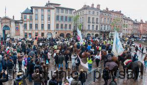 700 cavaliers dans les rues de Toulouse pour défendre une filière exemplaire.