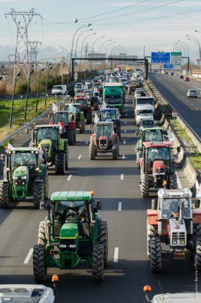 L'arrivée des tracteurs sur Toulouse