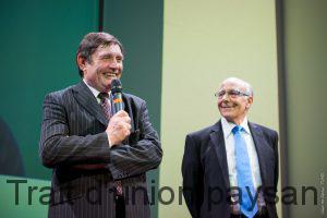 Gérard Cazals cède la présidence de la Caisse Régionale à Robert Conti