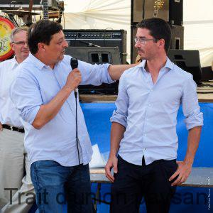Frédéric Ribes accueille Benjamin Piccoli, le nouveau directeur du Syndicat des Vins de Fronton.