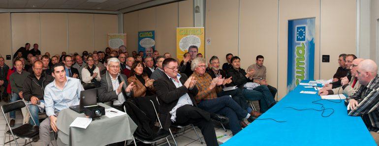 Alain Tapiau a fait une rétrospective de 50 années d'engagement CUMA, en France et dans le département.