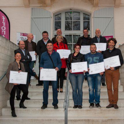 Tous les lauréats étaient reçus à la Maison des Vins de Fronton.