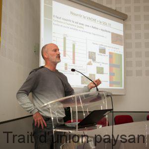 Konrad Schreiber, de l'Institut de l'Agriculture Durable, a tenu une conférence remarquée sur les moyens de redonner de la compétitivité aux exploitations agricoles françaises.