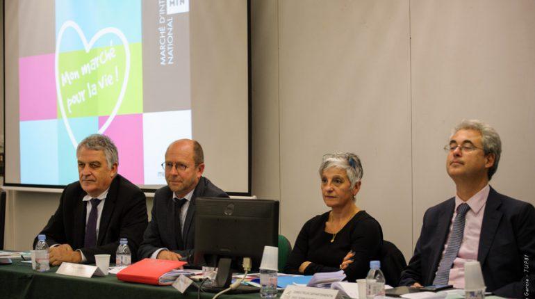 (de g. à dr.) Claude Sandeyront (M.I.N.), Yvon Parayre et Véronique Foulquier (CDA31) et Philippe Kahn (DDT31).