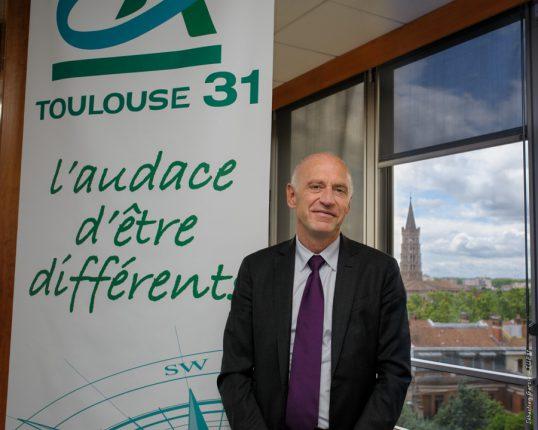 Nicolas Langevin, directeur général du Crédit Agricole Toulouse 31, pilote un projet d'entreprise 2017-2020 très ambitieux.