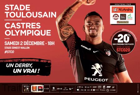 Affiche match Stade toulousain-Castres olympique