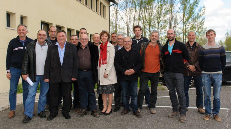 La nouvelle équipe de la FRCUMA au grand complet, à Auzeville.