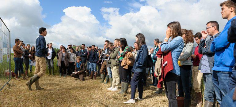 Mise en situation réelle pour les étudiants de BTS d'Auzeville, qui présentaient en direct leur expérimentations à des agriculteurs et techniciens de la région.