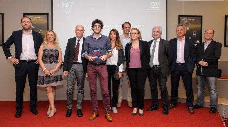 Renaud Allioux, de la start-up EarthCube, a reçu le 1er prix du concours Start-me Up 2016.