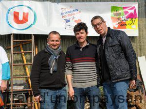 Etienne Sassé (produit sur son 31), Patrick Davezac et Grégory Vouters, trois échelons d'une filière qui vise la qualité au meilleur prix.