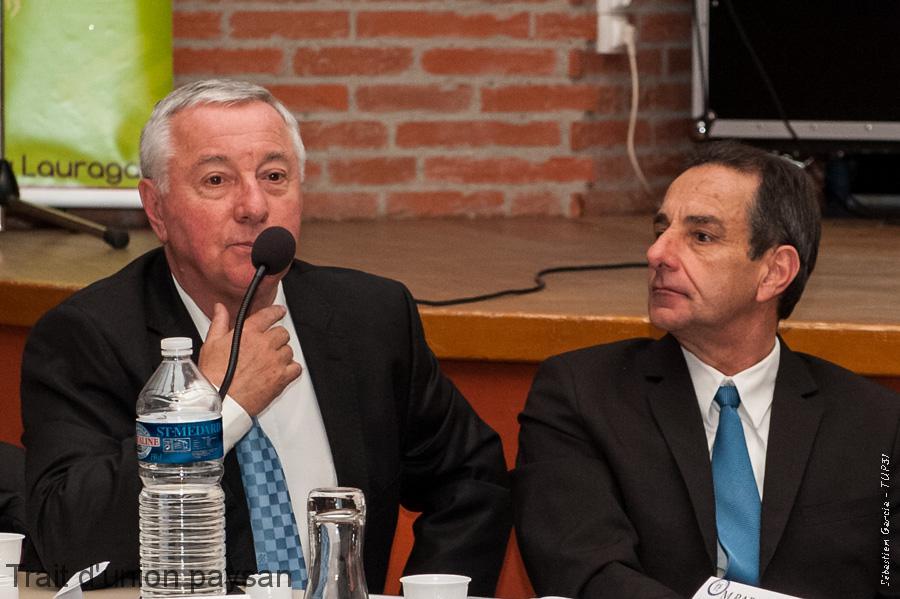 Richard Sié (à gauche) et Serge Marquier, respectivement directeur et Président de la CRL