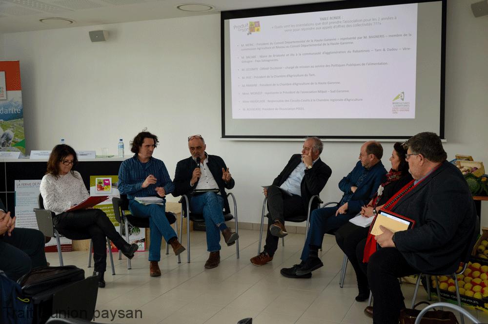 Collectivités territoriales et organisations professionnelles ont débattu lors de la table-ronde.