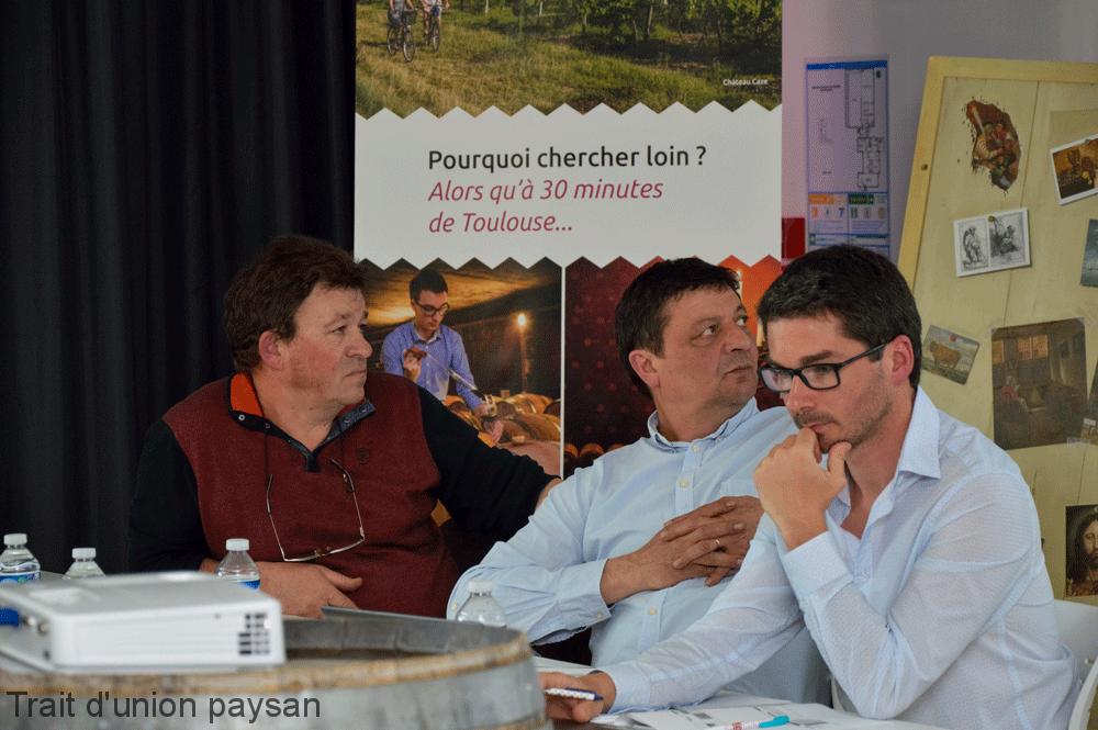 A la tribune (de g. à d.) : Jean-Luc Constans, Frédéric Ribes et Benjamin Piccoli.