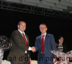Cette assemblée générale a vu la passation entre Thierry Mauhourat, directeur général de la MSA MPS (à droite), et Sébastien Bismuth-Kimpe, son successeur au même poste à compter du 1er mai 2018.