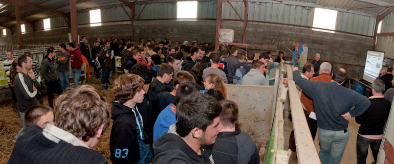 L'association Veau sous la Mère se donnait 4h pour convaincre des jeunes d'opter pour cette production.