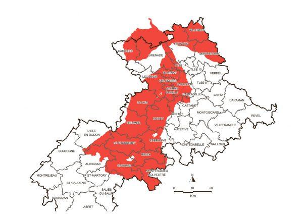 L'administration a réduit le territoire de la MAE sur les zones de déficit hydrique. Même si la profession agricole estime que l'intégralité du département connaît régulièrement des épisodes de sécheresse, la DRAAF n'a pas retenu les territoires du Lauragais et de la Vallée de la Lèze.