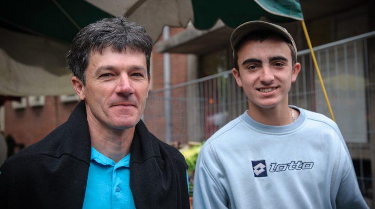 Patrick Davezac, éleveur, et Ludovic Cousseau, en CAP agricole à St Gaudens, tous deux fermement convaincus par l'apprentissage.