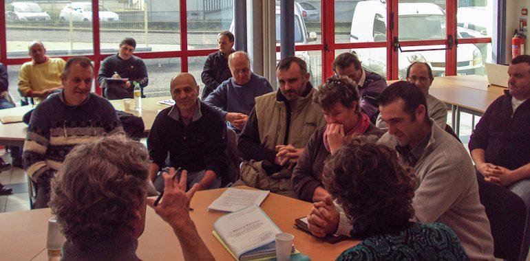 La délégation de l'ACVA d'Aurignac, reçue par le commissaire-enquêteur.