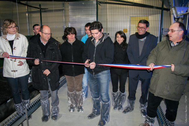 Olivier Dutrain inaugure le bâtiment qui marque officiellement le début de sa nouvelle activité.