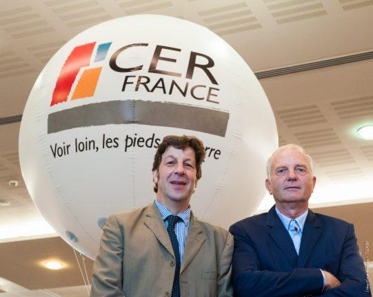 Christophe Lambert, Président du Conseil National du Réseau, et Hugues Samain, Président du Cerfrance Midi-Pyrénées, ont donné le coup d'envoi du congrès national CERFRANCE.