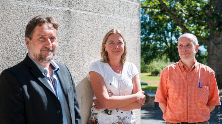 François Moreau, secrétaire général du Lycée de St-Gaudens (à droite) accueille Thierry Force et Florence Martin-Pons, respectivement proviseur de l'Établissement et directrice du CFAA.