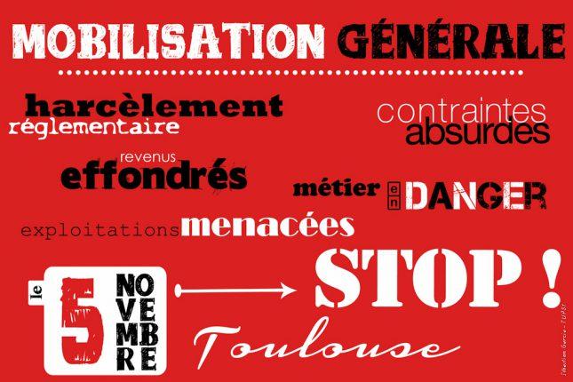 Le tract d'appel à mobilisation pour la manifestation de Toulouse.