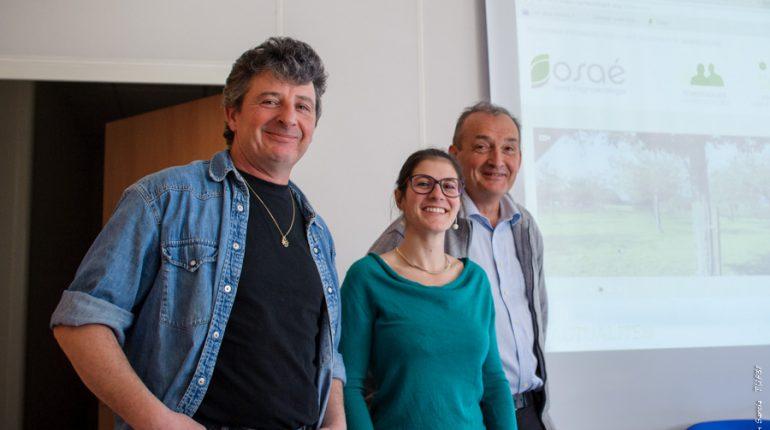 Roger Béziat (à gauche) a participé à l'élaboration d'Osaé, porté par Marine Gimaret et Philippe Pointereau, de Solagro.