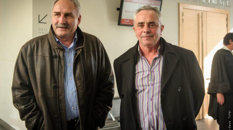 Jean-François Renoux et Jean-Claude Labit à la sortie de la salle d'audience