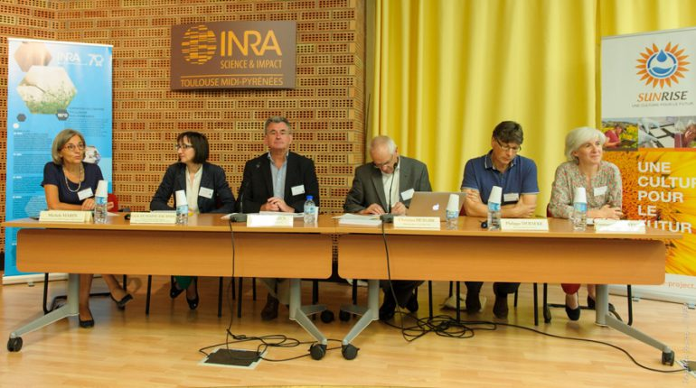 Le tournesol a réuni autour de lui une équipe de choc, que les responsables de l'INRA et de l'administration étaient ravis de présenter.