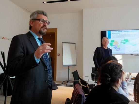 Régis Serres et Jacques Logie présentaient le bilan de l'année 2016 et la stratégie du groupe Arterris à la presse régionale, le 19 janvier dernier à Toulouse